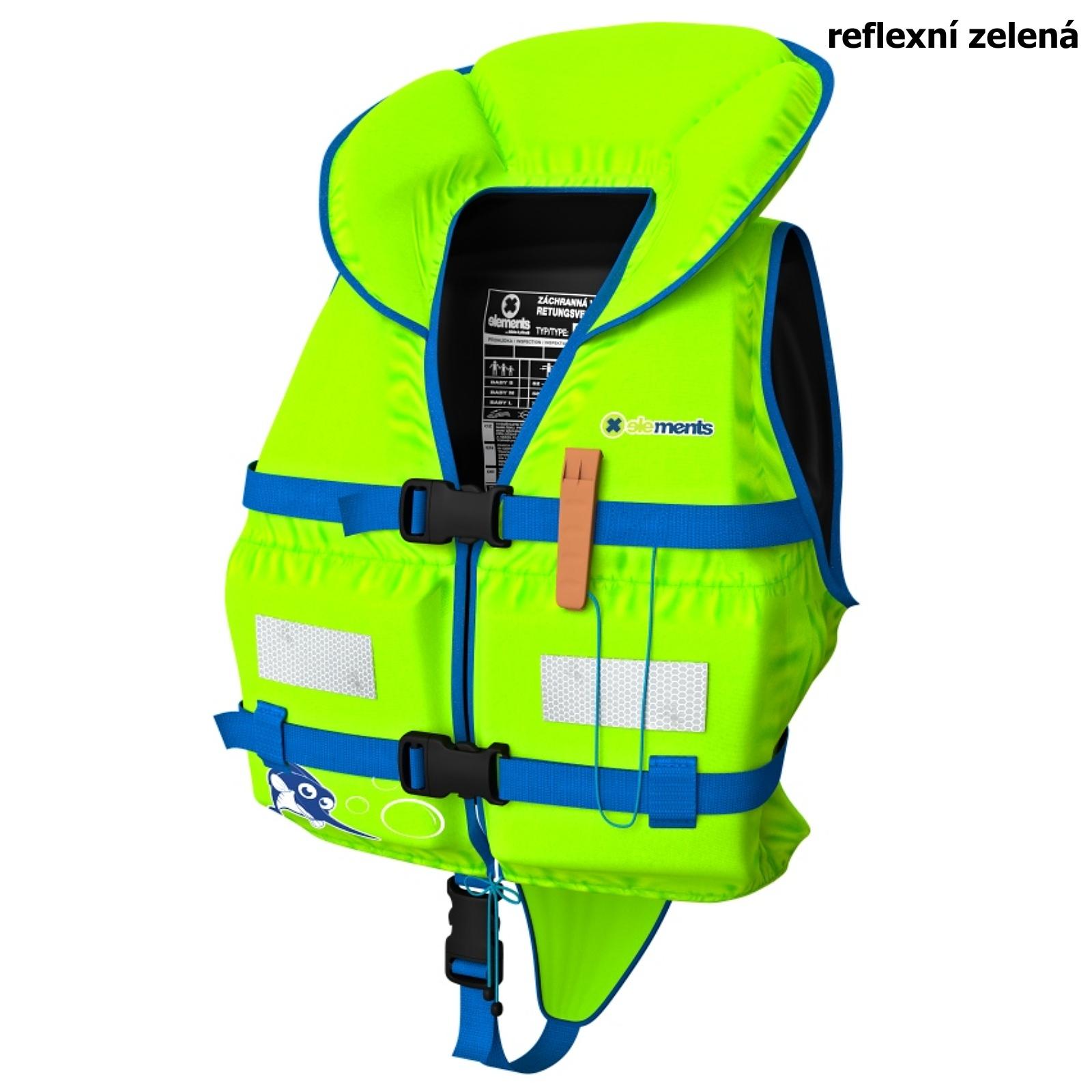 Záchranná vesta ELEMENTS GEAR Baby Plus zelená - vel. S