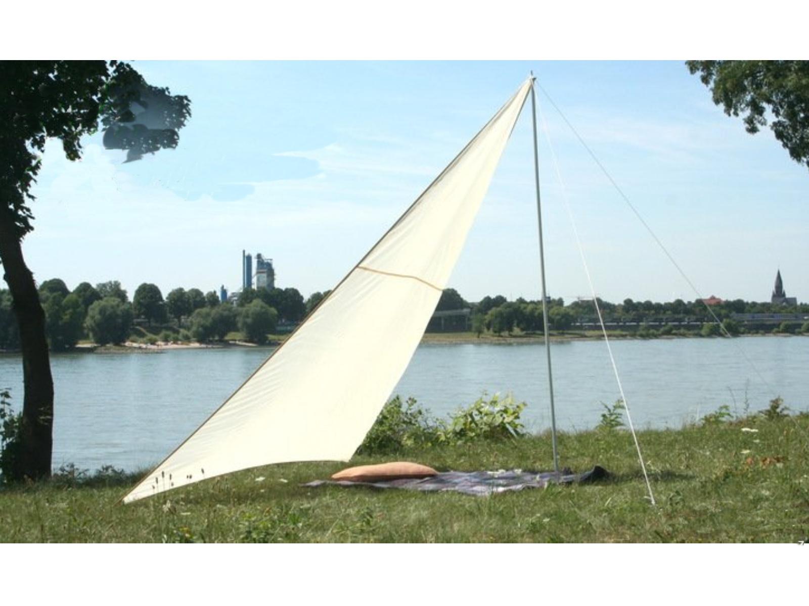 Kempingová sluneční plachta PEDDY SHIELD trojúhelníková