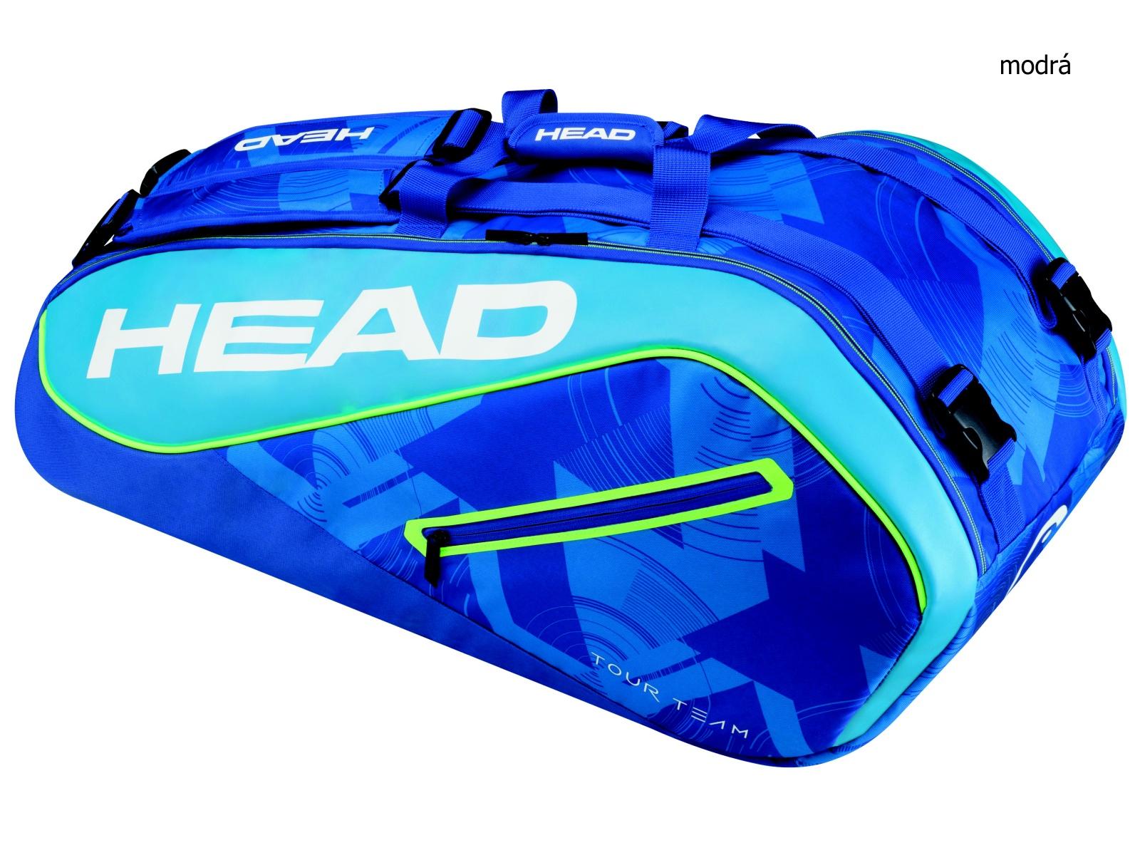 Tenisová taška HEAD Tour 9R Supercombi - modrá