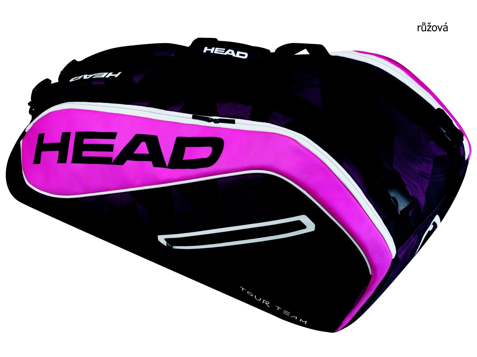Tenisová taška HEAD Tour 9R Supercombi - růžová