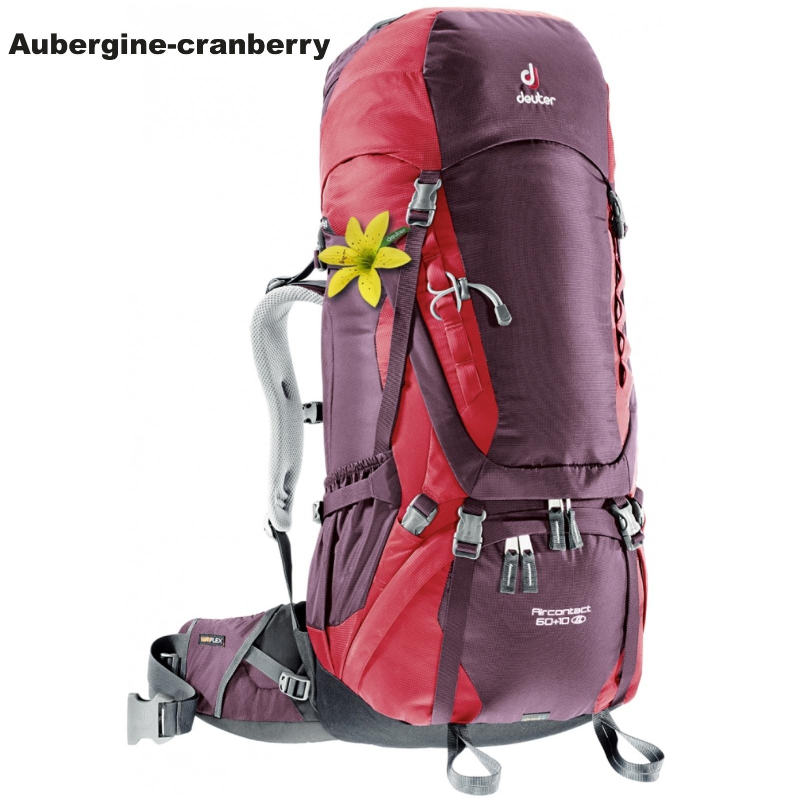 Batoh DEUTER Aircontact 60+10 SL - aubergine-cranberry