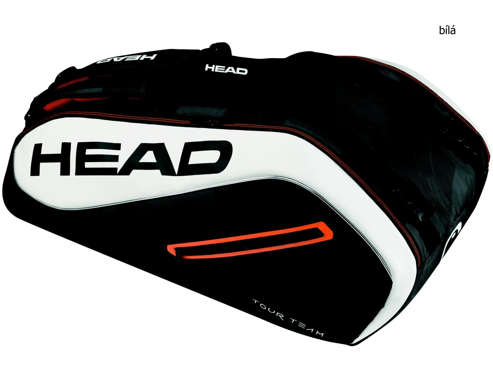 Tenisová taška HEAD Tour 9R Supercombi - bílá