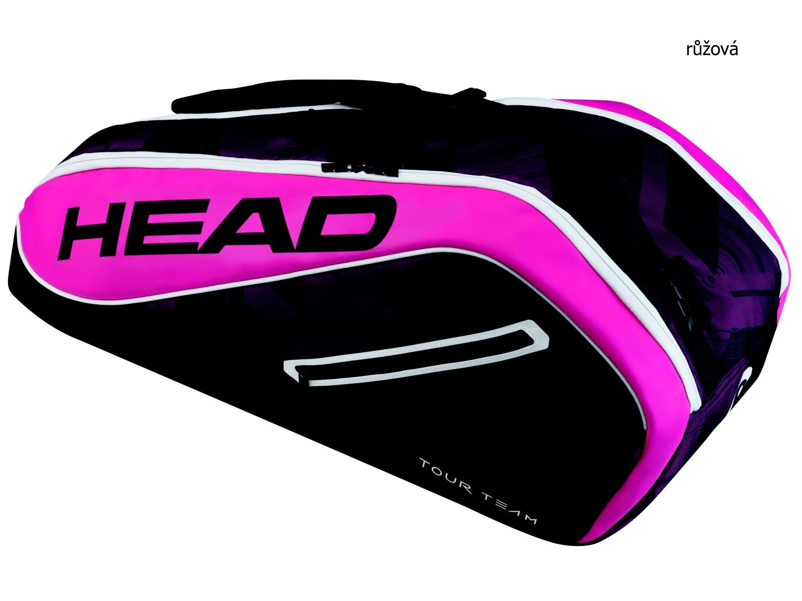 Tenisová taška HEAD Tour 6R Combi - růžová