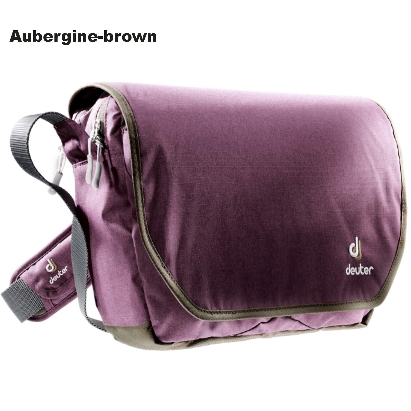 Taška přes rameno DEUTER Carry out - aubergine-brown