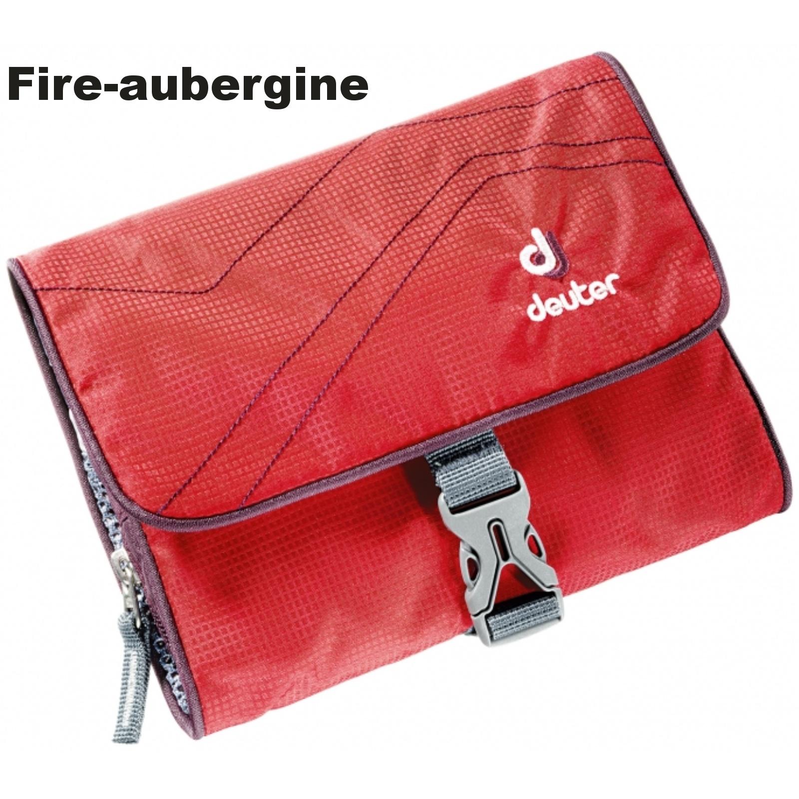 Toaletní taška DEUTER Wash Bag I - fire-aubergine