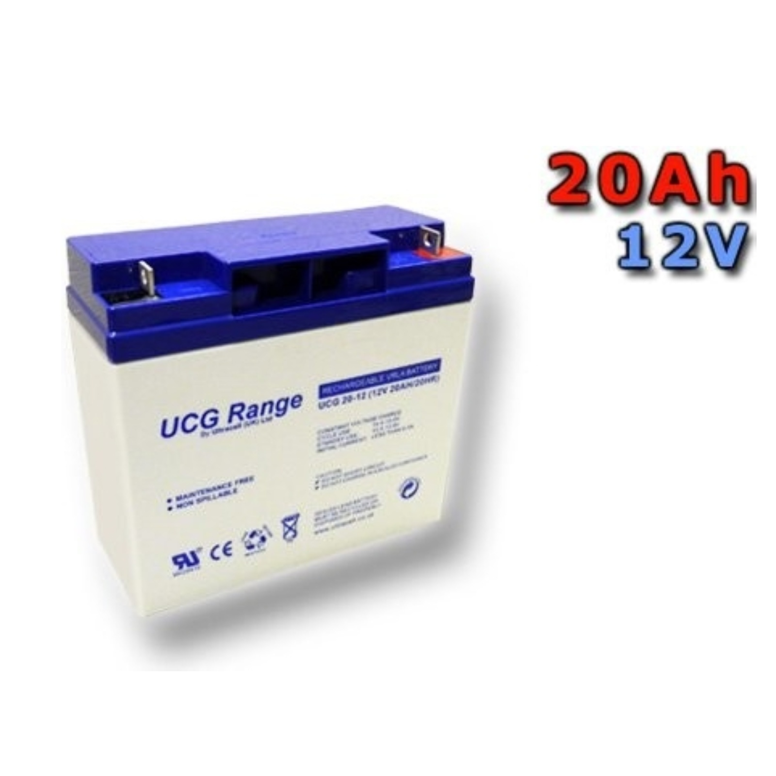 Trakční gelová baterie ULTRACELL UCG20-12 20Ah