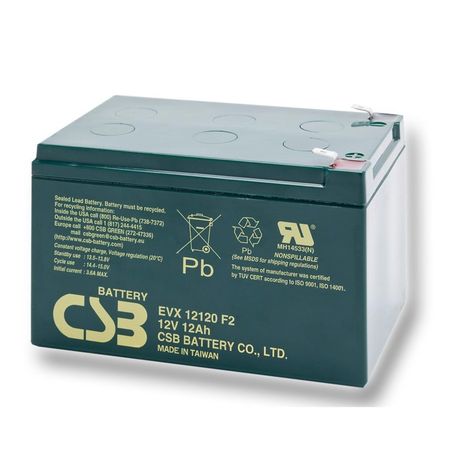 Trakční baterie CSB EVX12120 F2 12V 12Ah