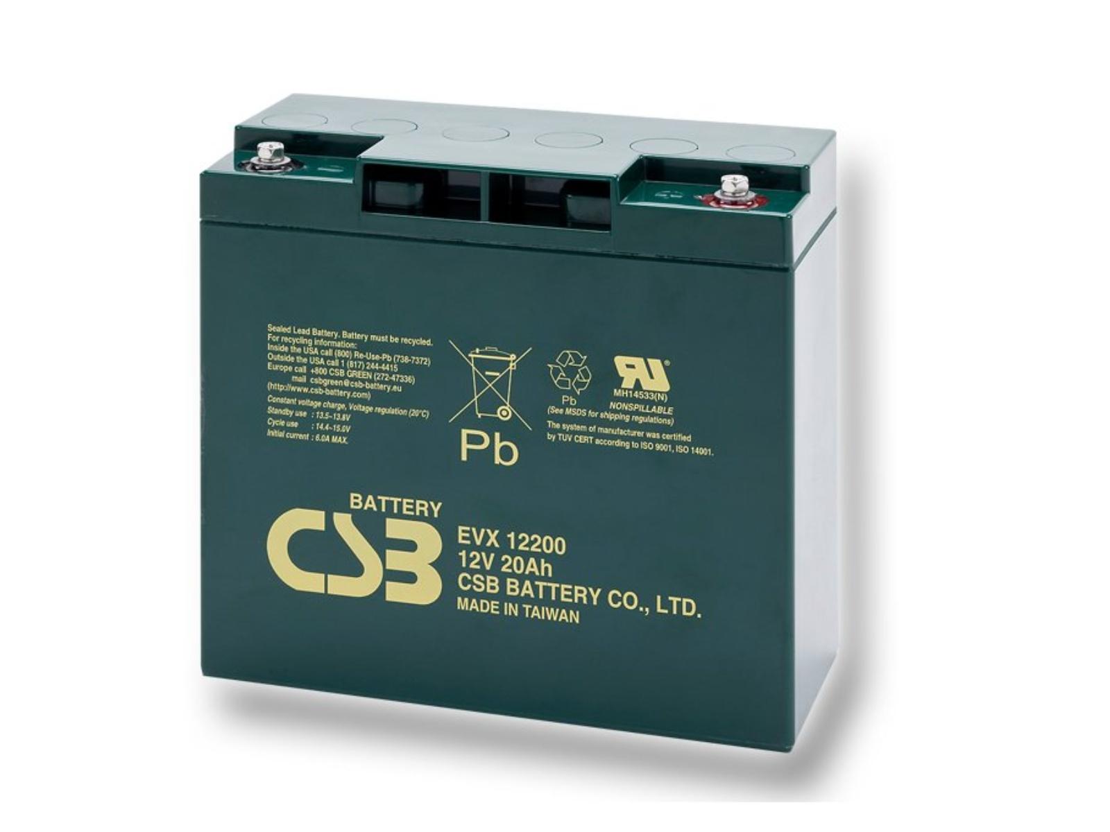 Trakční baterie CSB EVX12200 12V 20Ah