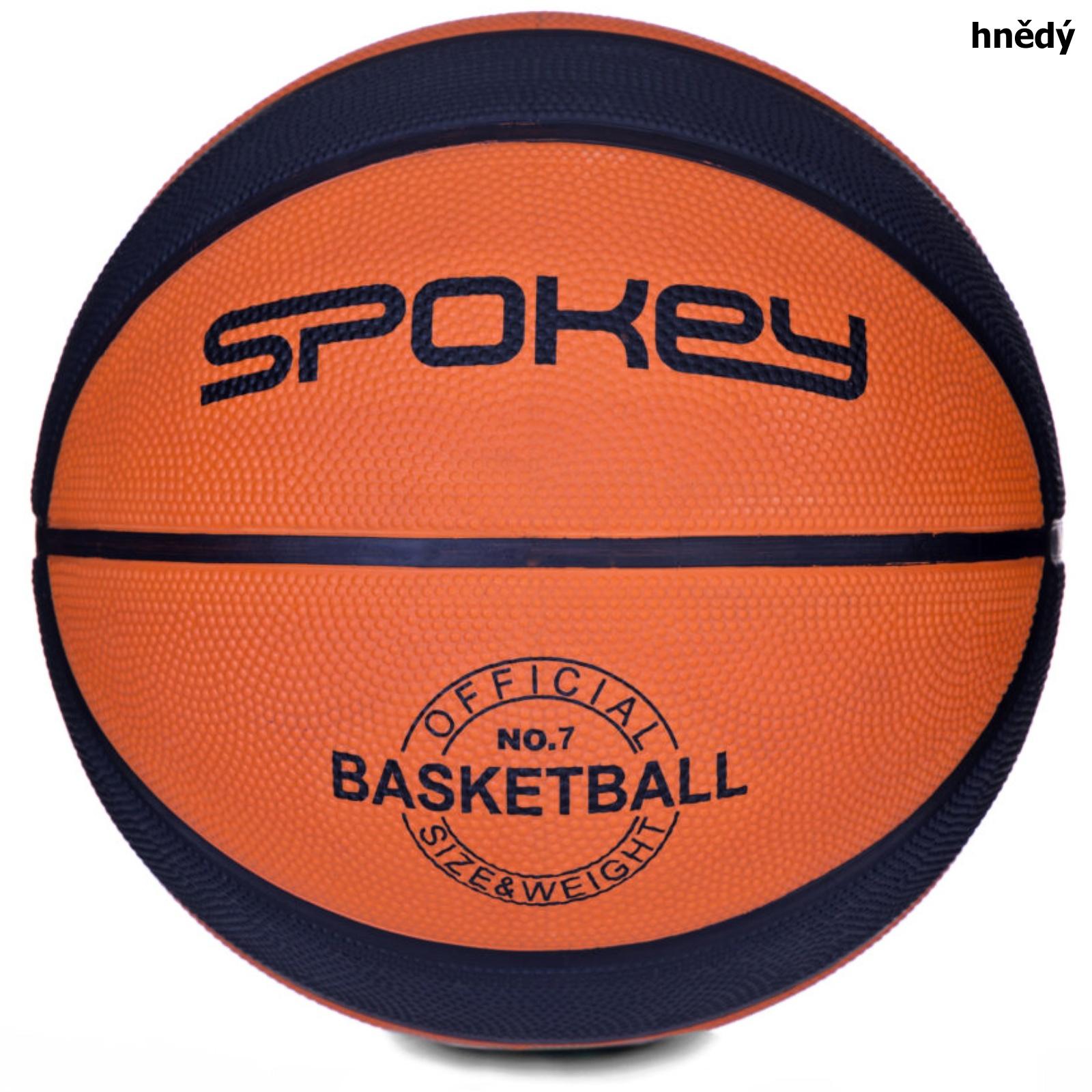 Basketbalový míč SPOKEY Dunk 7 - hnědý
