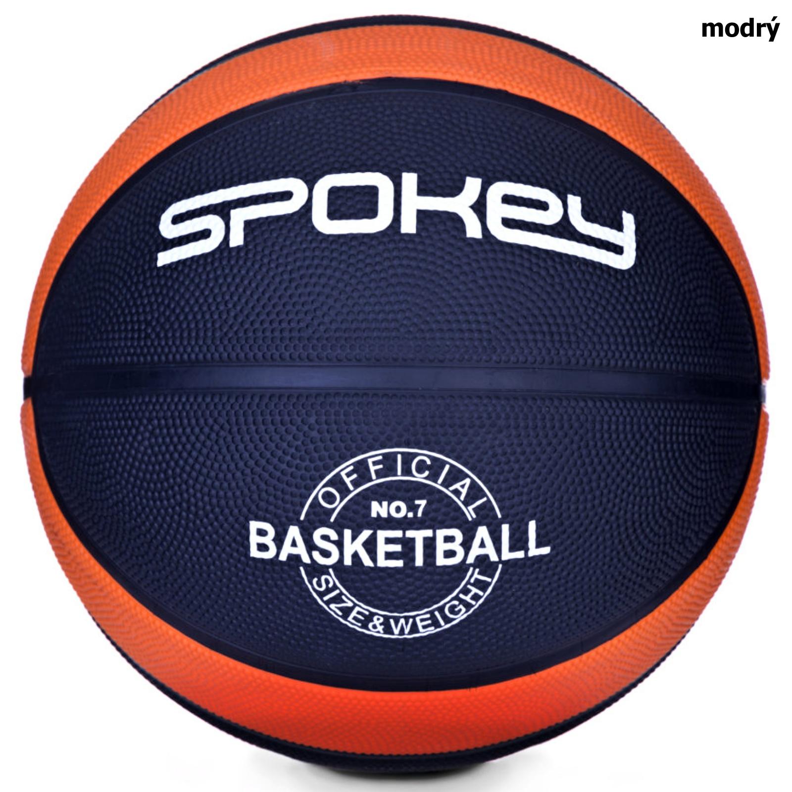 Basketbalový míč SPOKEY Dunk 7 - modrý