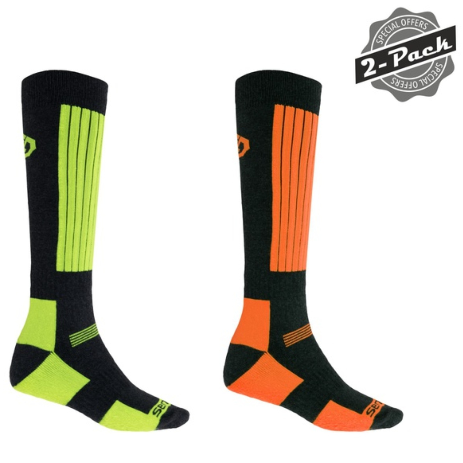 Ponožky SENSOR Snow set zelené+oranžové vel. 3-5