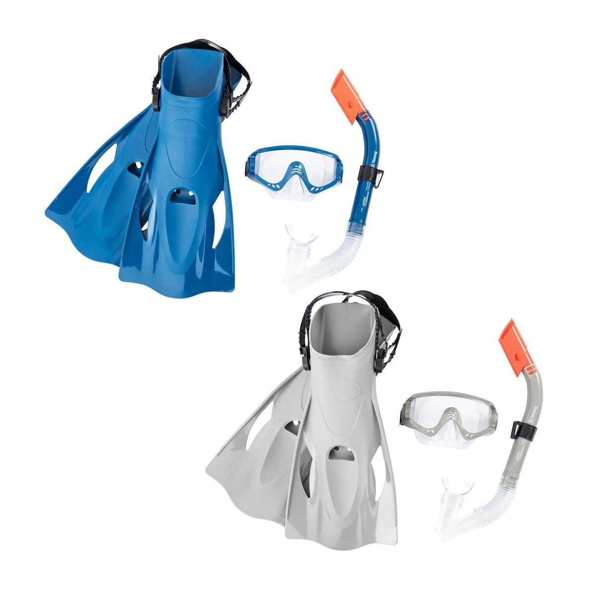 Potápěčský set BESTWAY Hydro Swim 25020 s ploutvemi - modrý