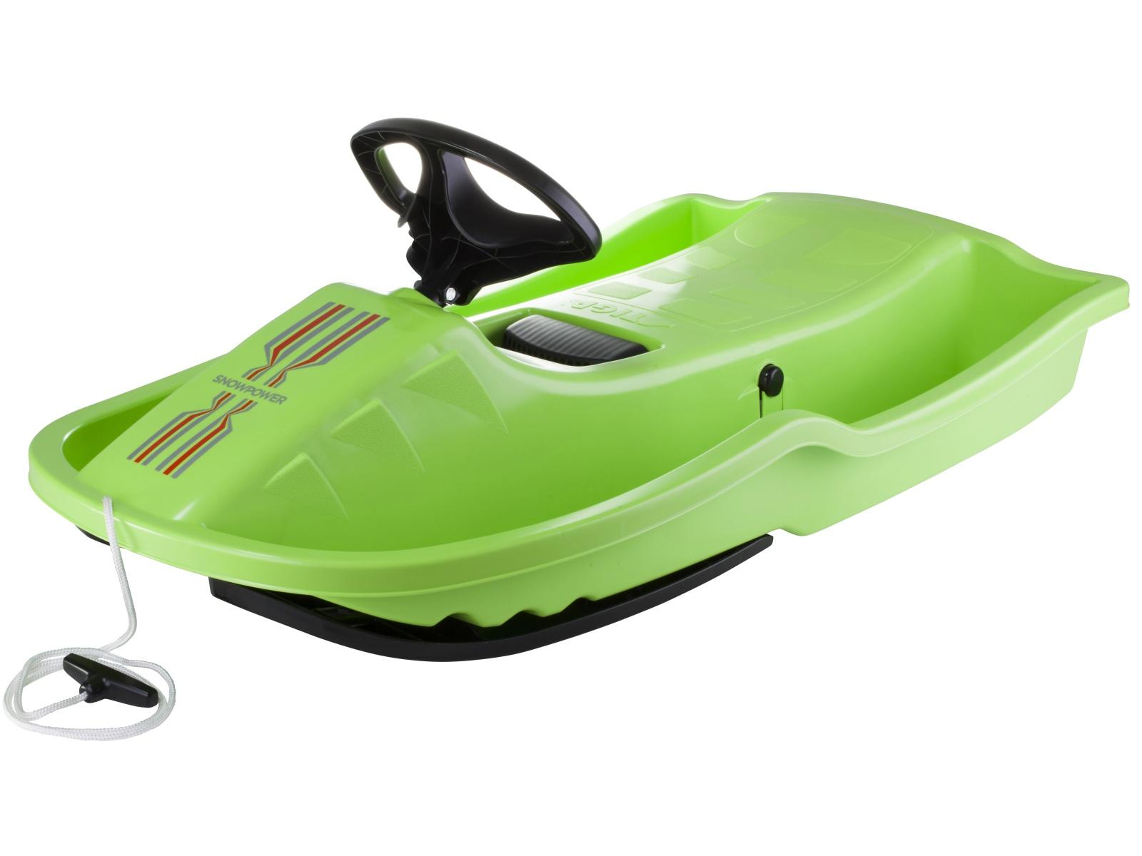 Dětské boby STIGA Snowpower Brake - zelené