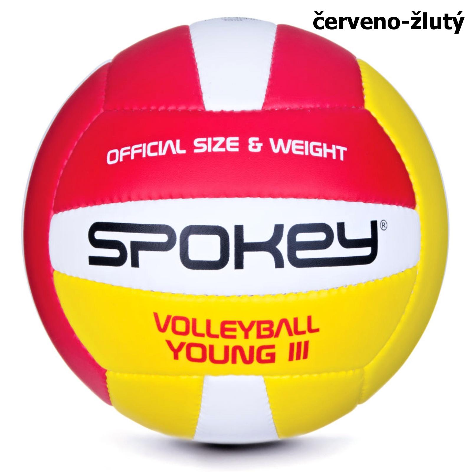 Volejbalový míč SPOKEY Young III červeno-žlutý