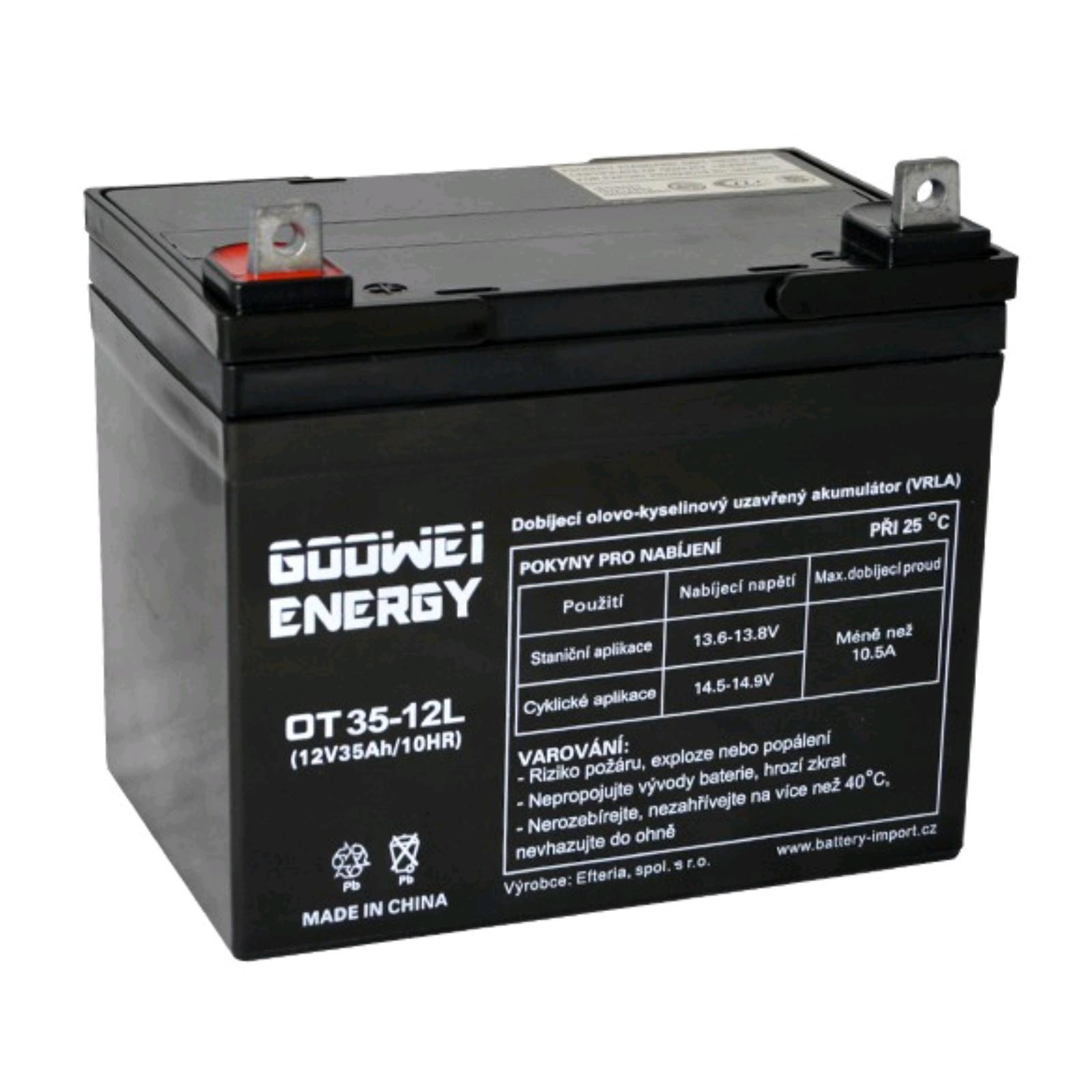 Trakční gelová baterie GOOWEI OTL35-12 35Ah