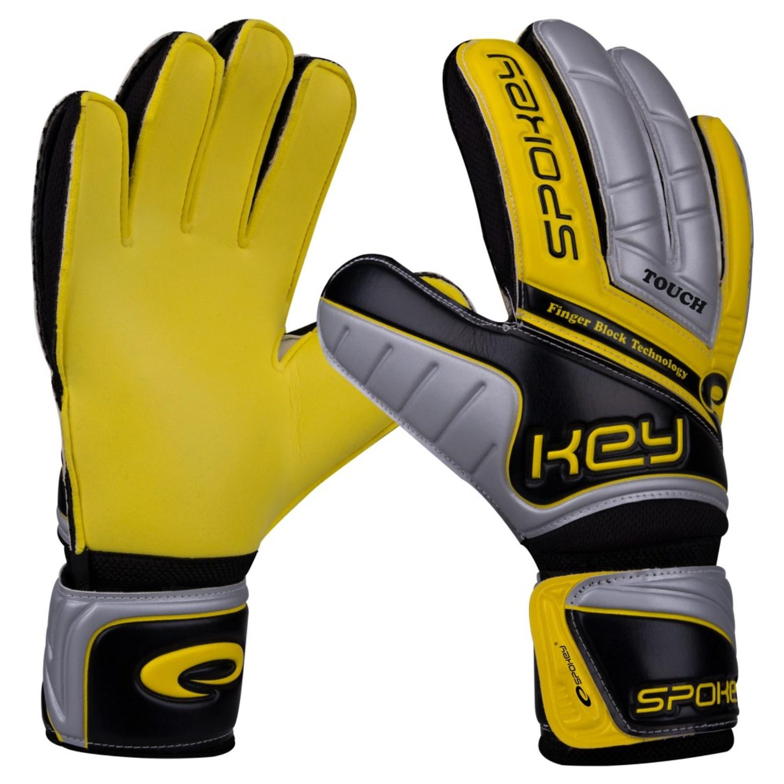 Brankářské rukavice SPOKEY Touch 10 žluté