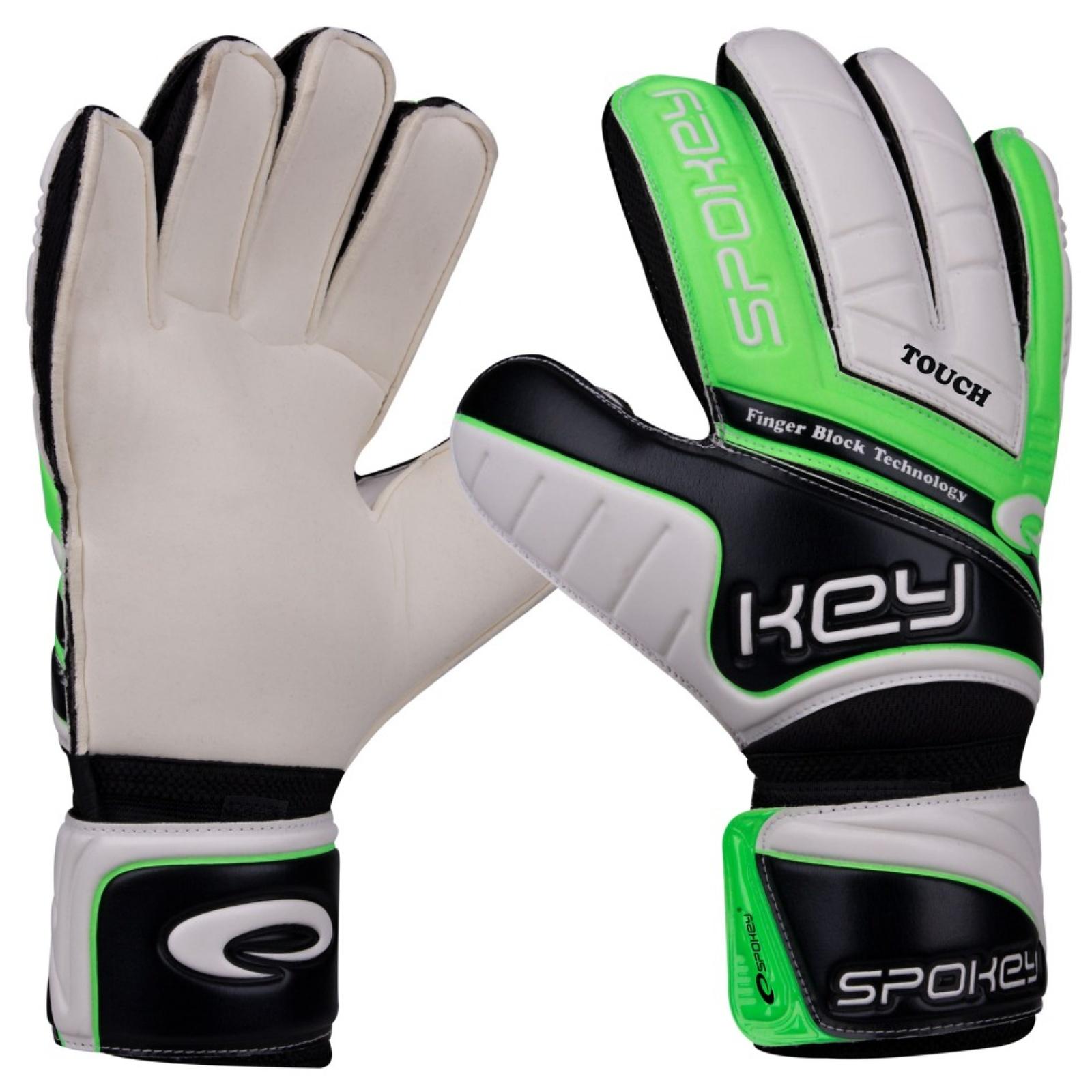 Brankářské rukavice SPOKEY Touch 10 zelené