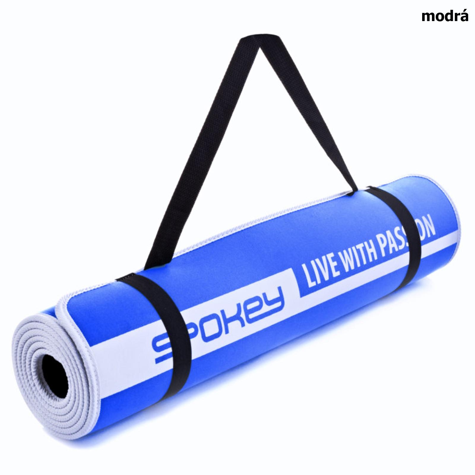 Podložka na cvičení SPOKEY Flexmat V - modrá