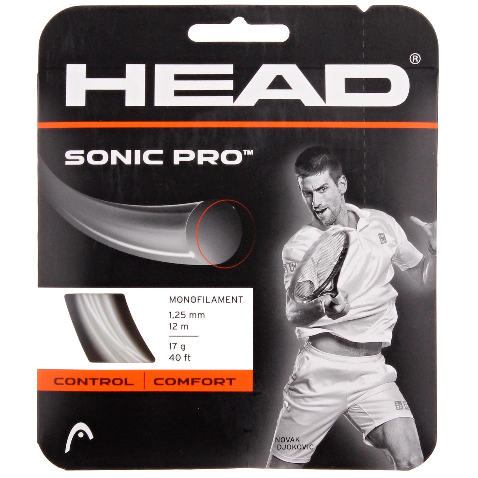Tenisový výplet HEAD Sonic Pro 12 m, 1.25 mm bílý