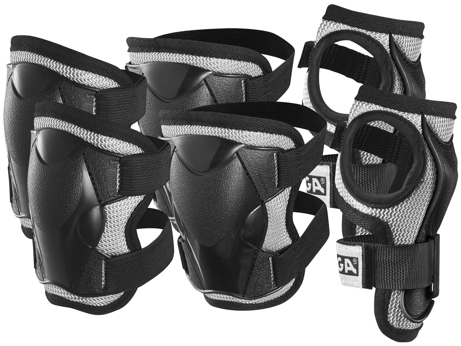 Chrániče STIGA Comfort Junior černé - vel. XS