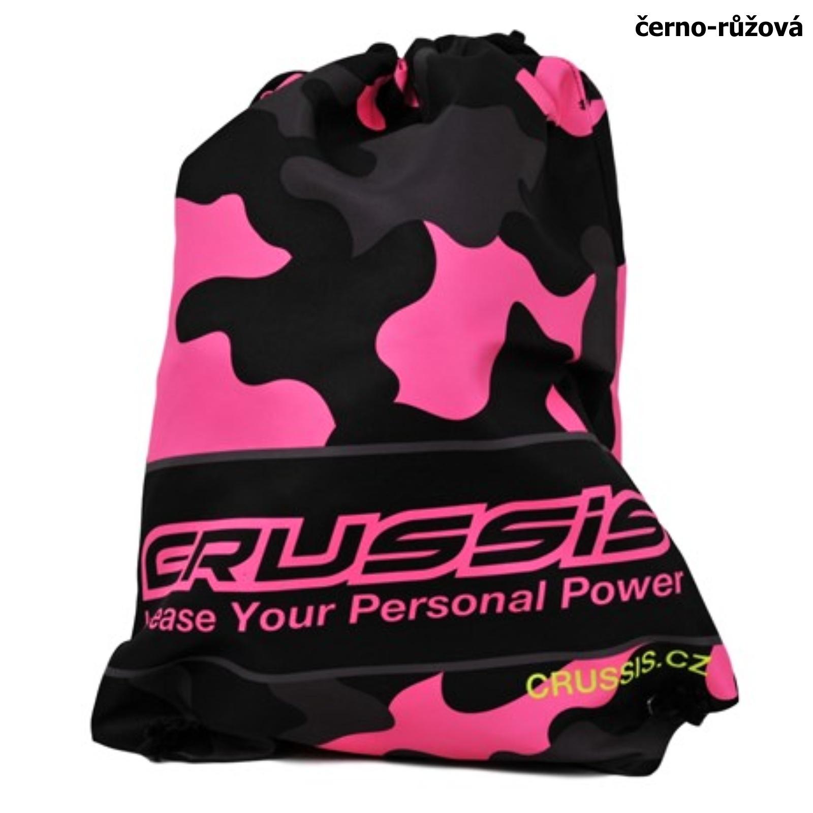 Sportovní taška CRUSSIS černo-růžová