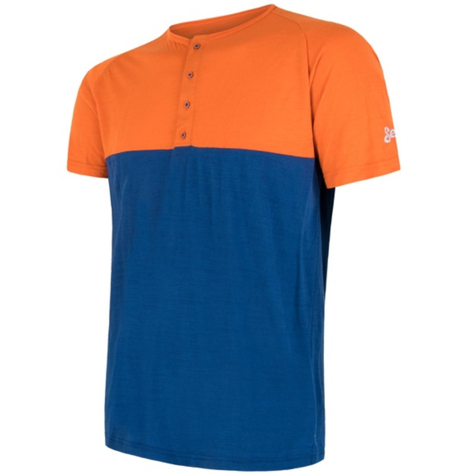 Triko kr. ruk. SENSOR Merino Air PT pán. oranžovo-modré - vel. L