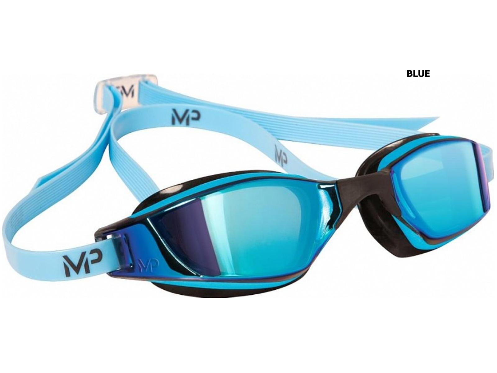 Plavecké brýle Michael Phelps Xceed Blue titanově zrcadlový zorník