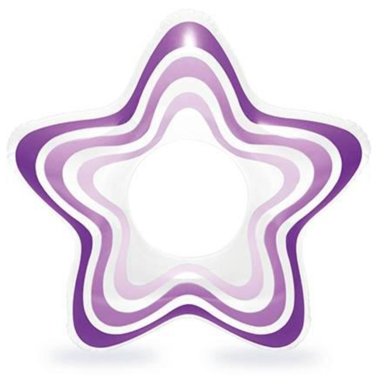 Nafukovací kruh INTEX Hvězda - fialový