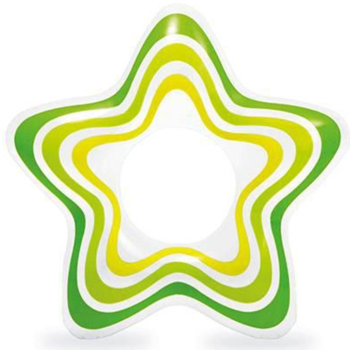 Nafukovací kruh INTEX Hvězda - zelený
