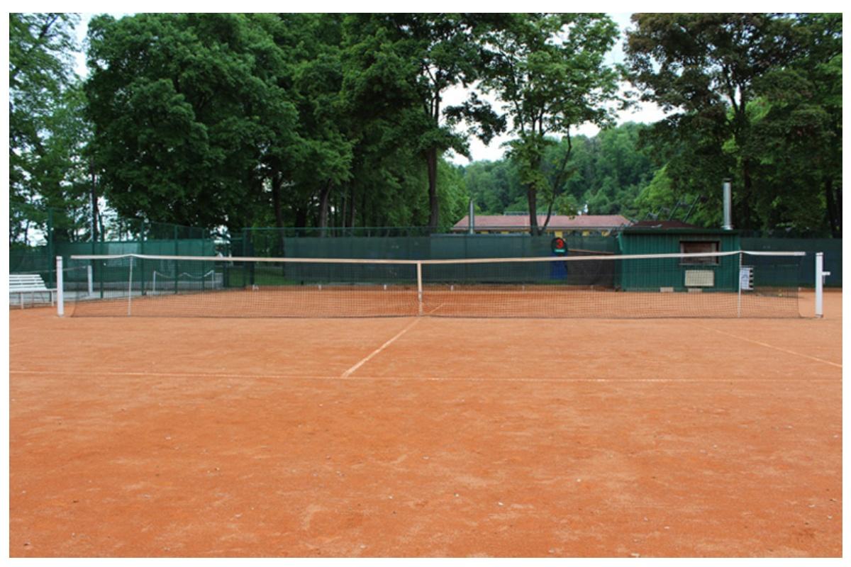 Tenisová síť Standart zdvojená