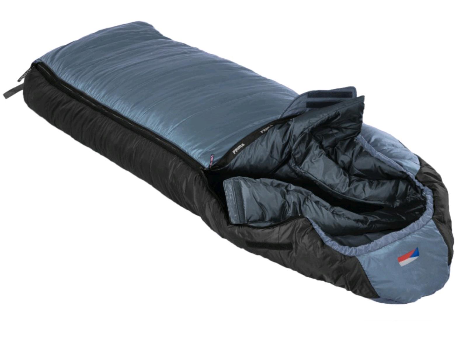 Spací pytel PRIMA Manaslu 230 Comfortable šedý - levý zip