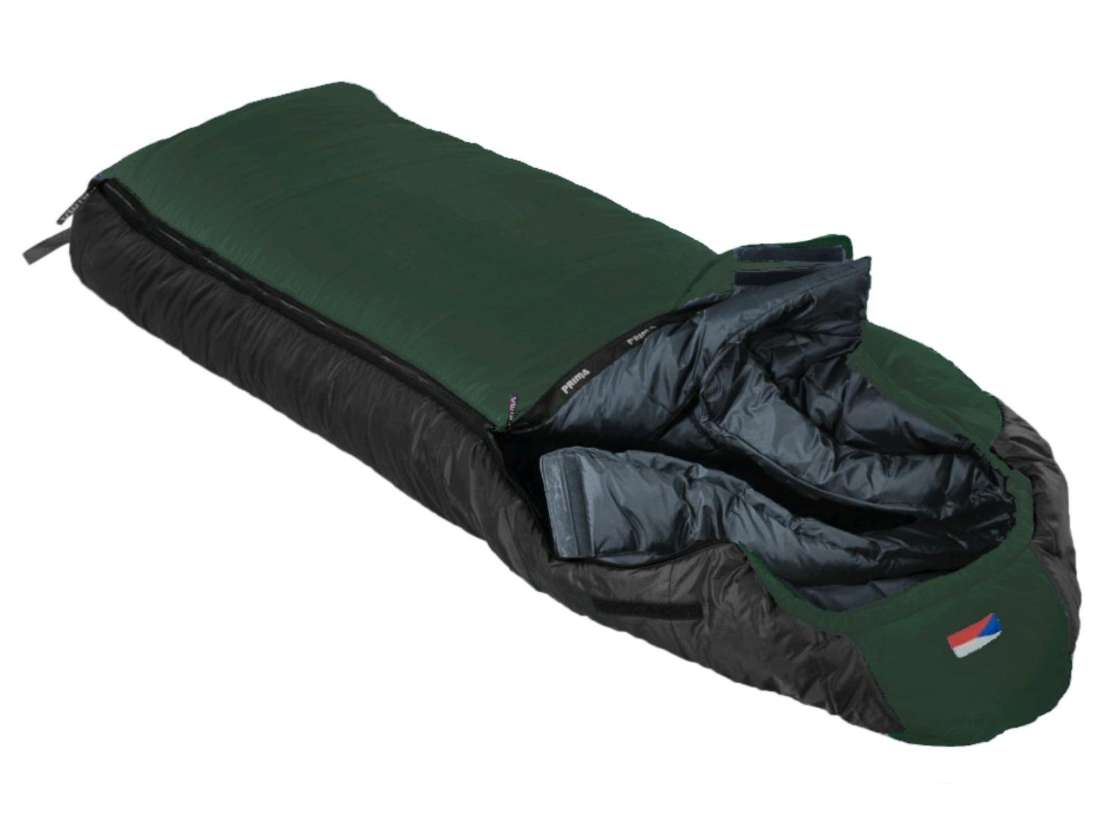 Spací pytel PRIMA Everest 220/90 zelený - levý zip