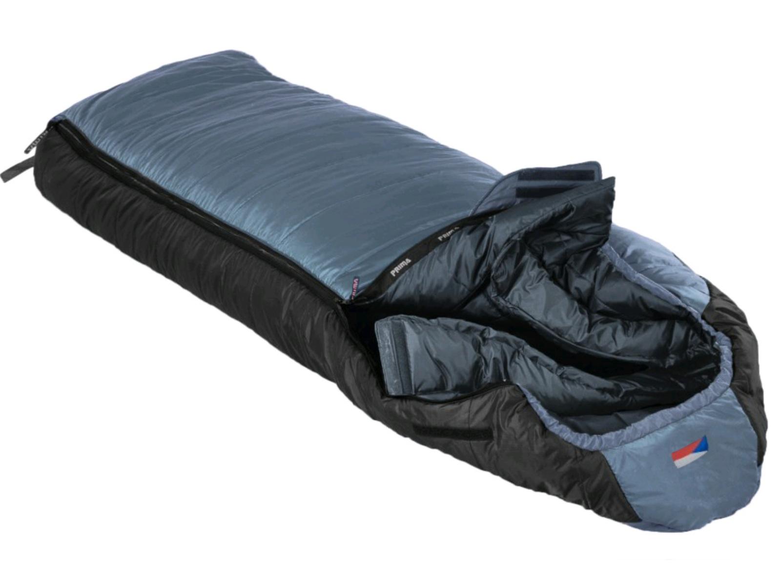 Spací pytel PRIMA Everest 230 Comfortable šedý - levý zip