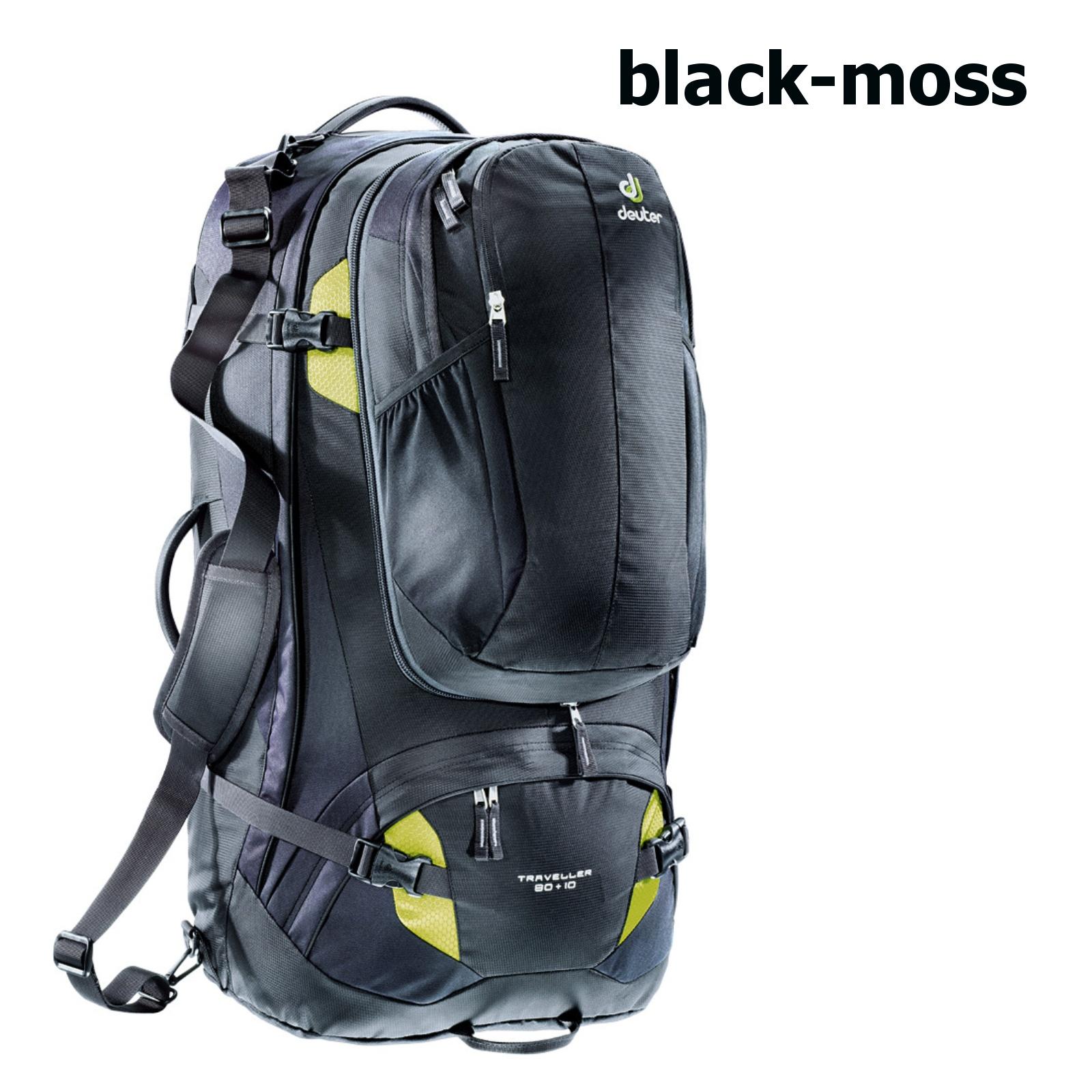 fe4c7e331e Batoh DEUTER Traveller 80 + 10 - black-moss
