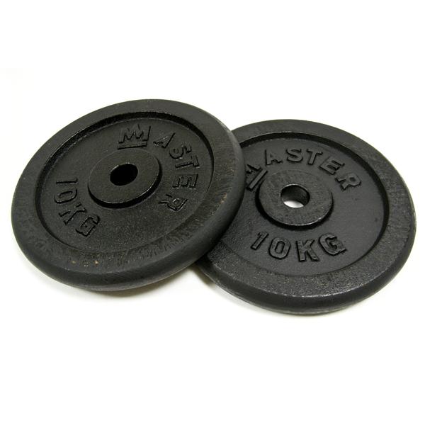 MASTER ocelové závaží 2x10kg - 30mm