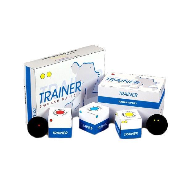Squashové míčky MERCO Trainer - 1ks - 2x žlutá tečka