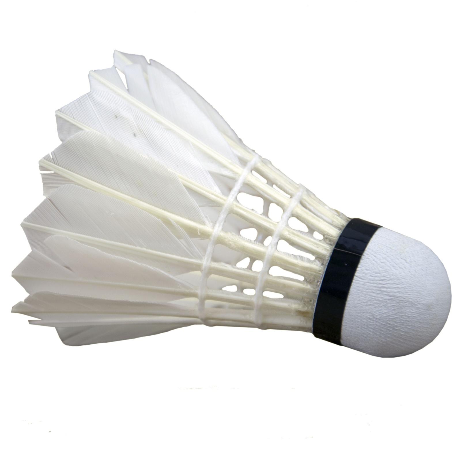 Badmintonové míčky BS2105 zelený pruh - péřové 12ks