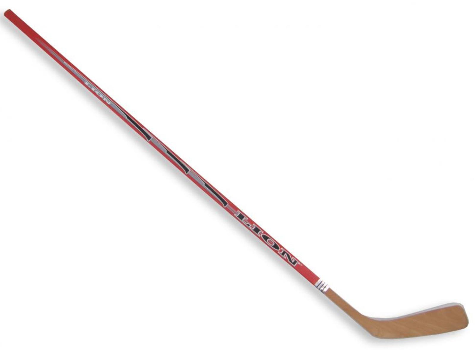 Hokejka LION 3377 - 147 cm levá - červená