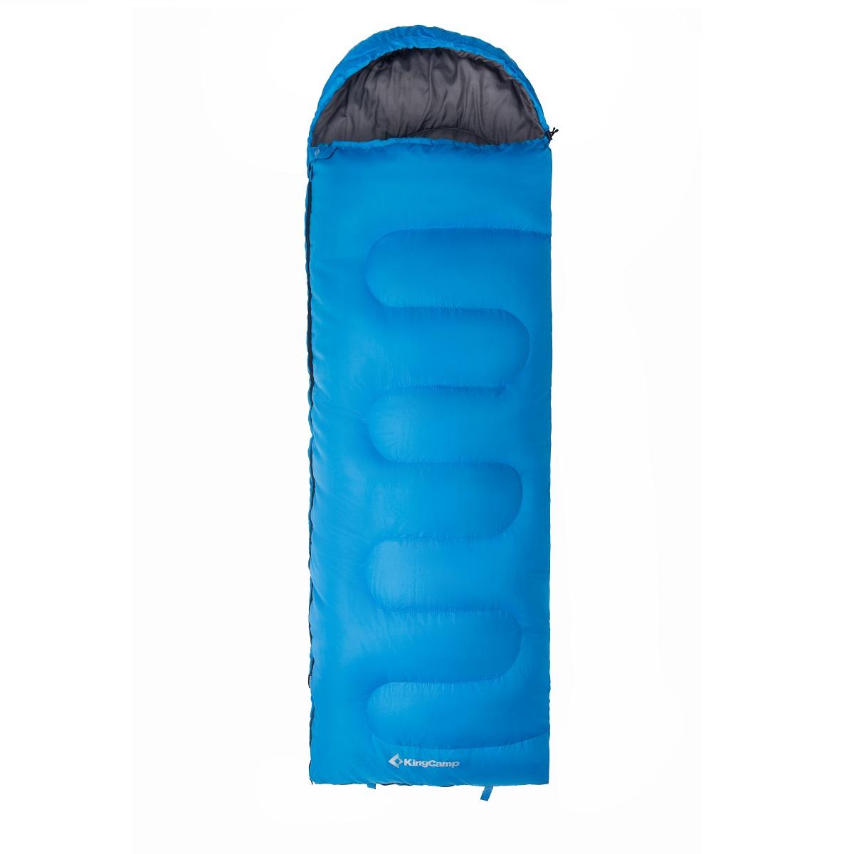 Spací pytel KING CAMP Oasis 250 modrý - levý zip