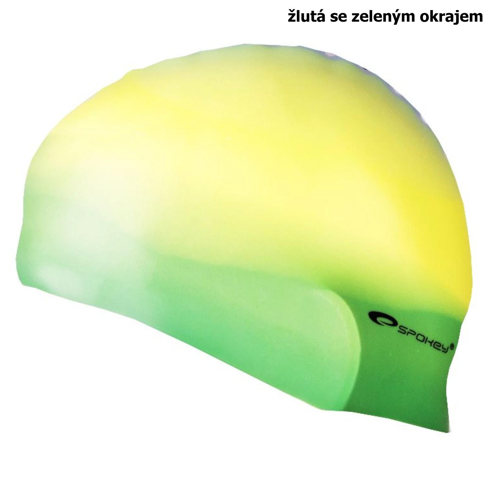 Plavecká čepice SPOKEY Abstract - žluto-zelená