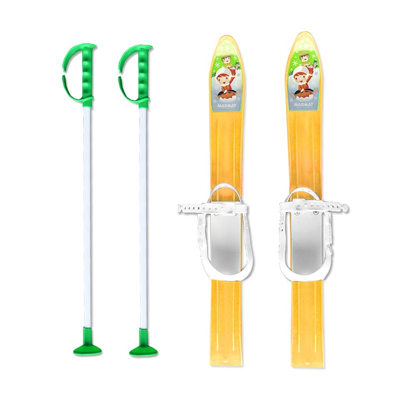 Baby Ski 60 cm - dětské plastové lyže - žluté