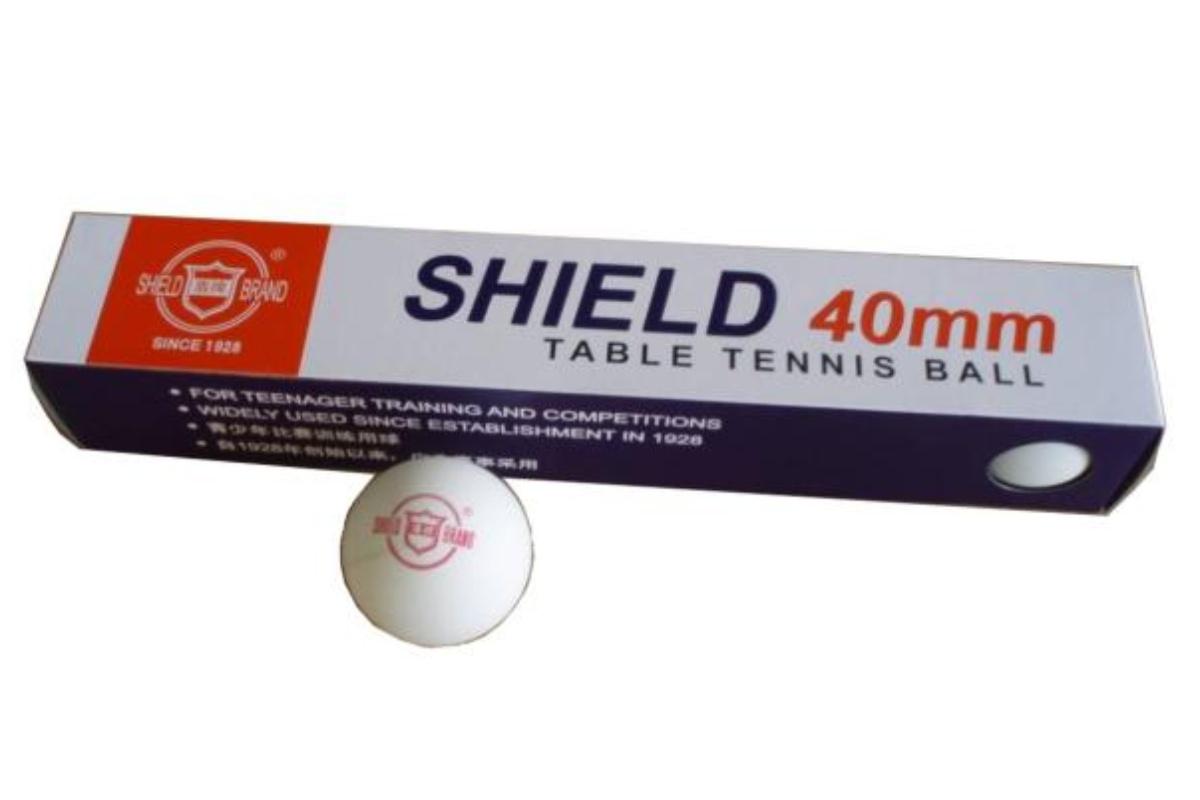 Míčky na stolní tenis SHIELD bezešvé 6ks