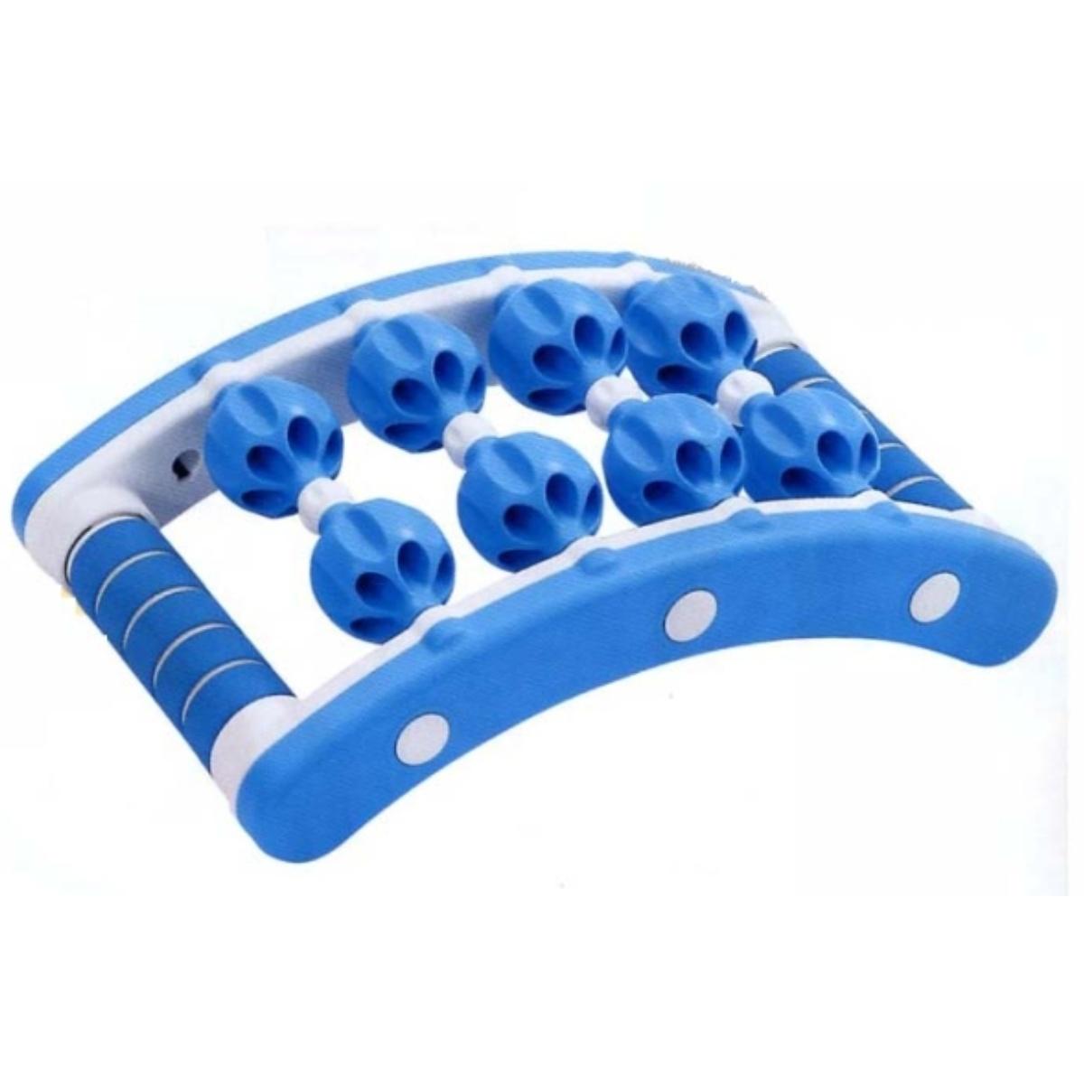 Masážní roller MS01 modro-bílý 21 x 35 cm