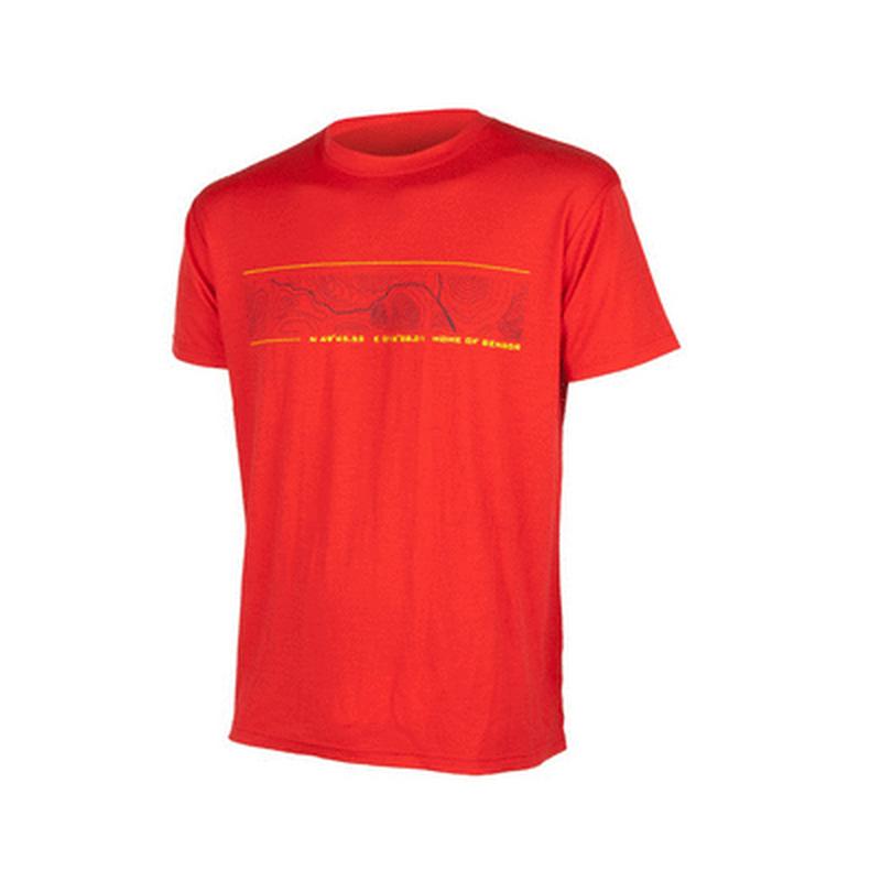 Triko krátký rukáv SENSOR Merino Wool GPS pánské červené