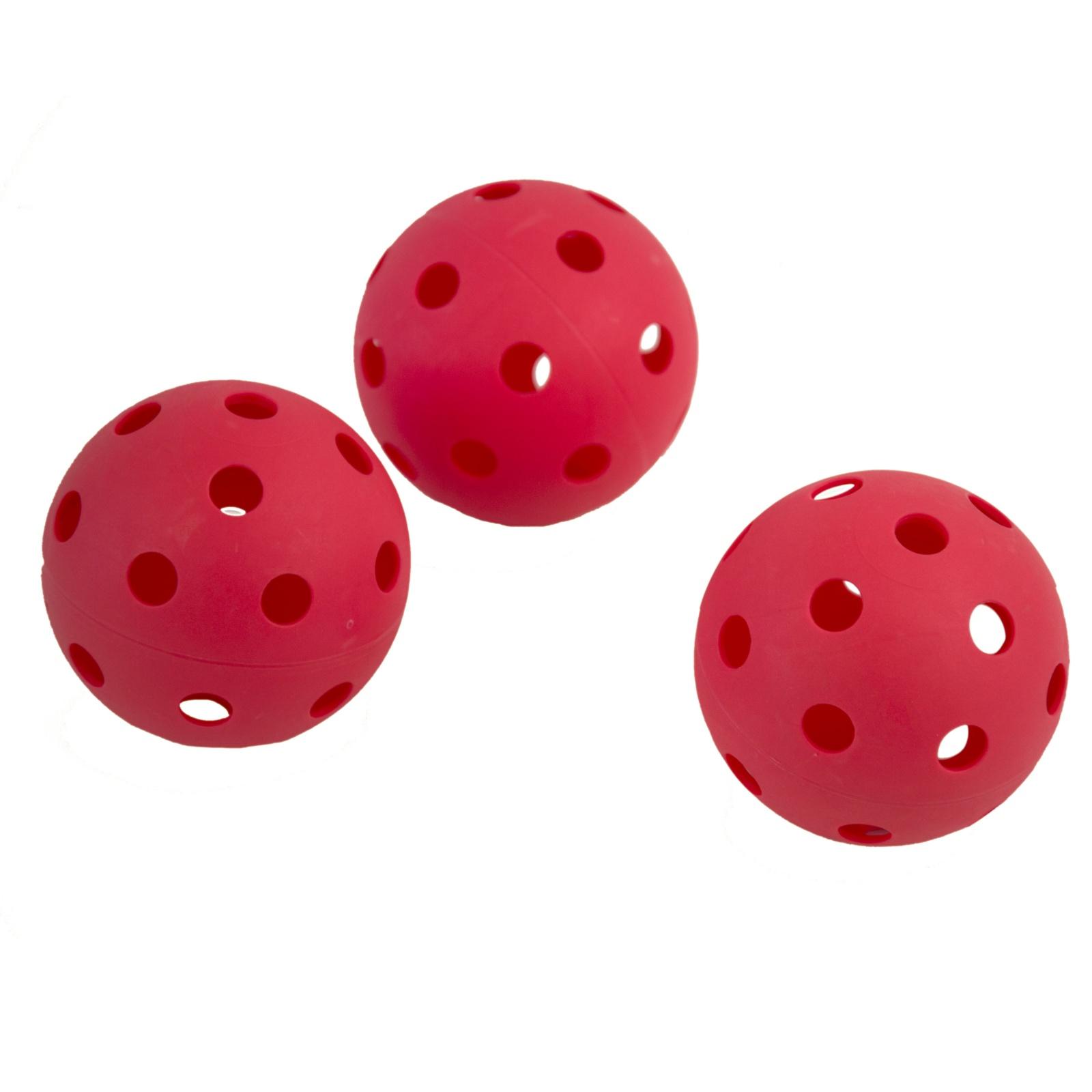Florbalové míčky SPOKEY Turn - 3ks - červené