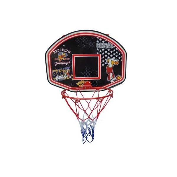 Basketbalový koš s deskou SPARTAN 60 x 44 cm s míčem