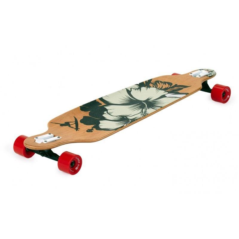 """Longboard SPARTAN Surf Black Flower 42"""" Spartan Sport"""