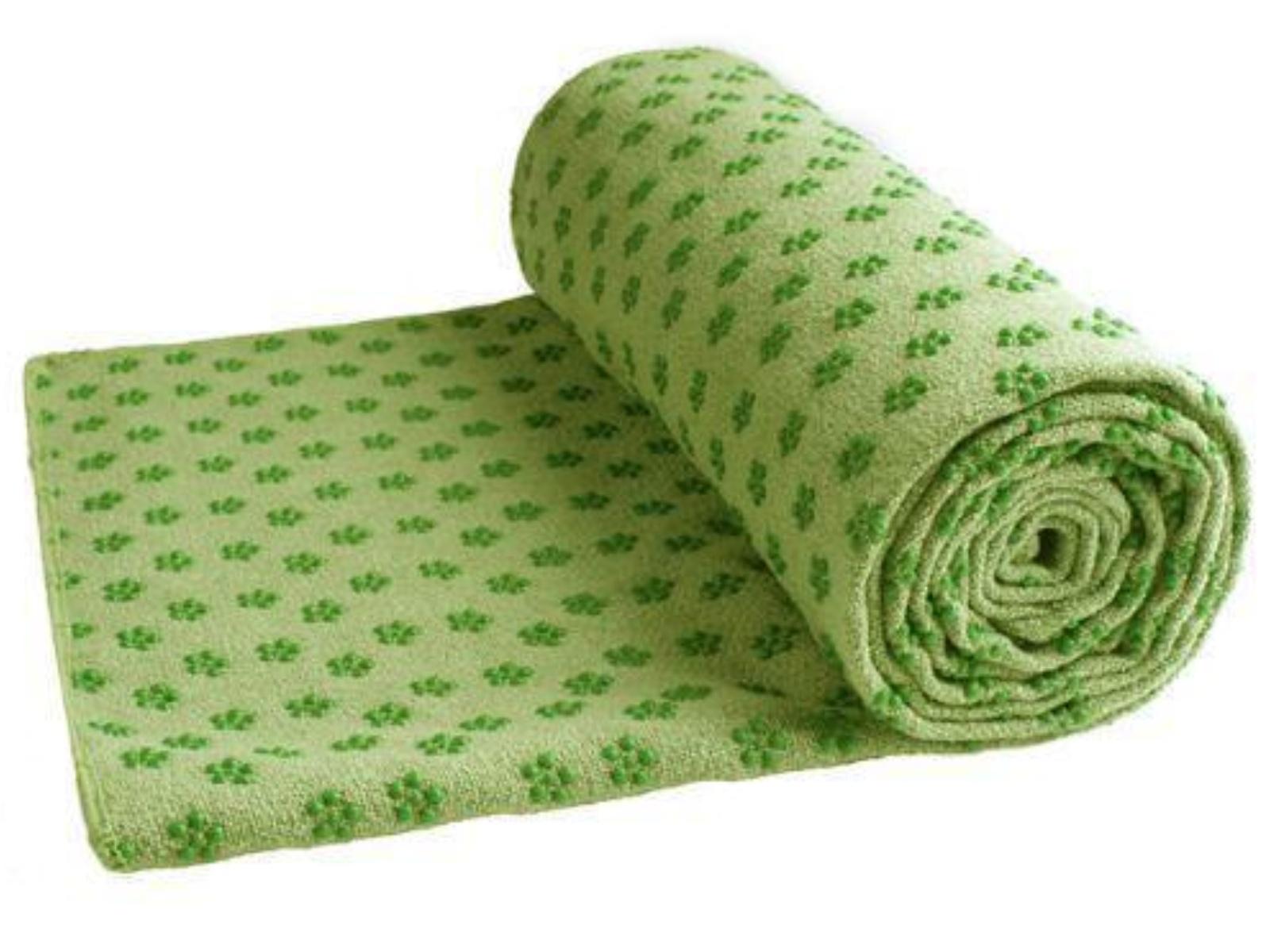 LiveUp ručník na yogu LS3752 183 x 63 cm zelená