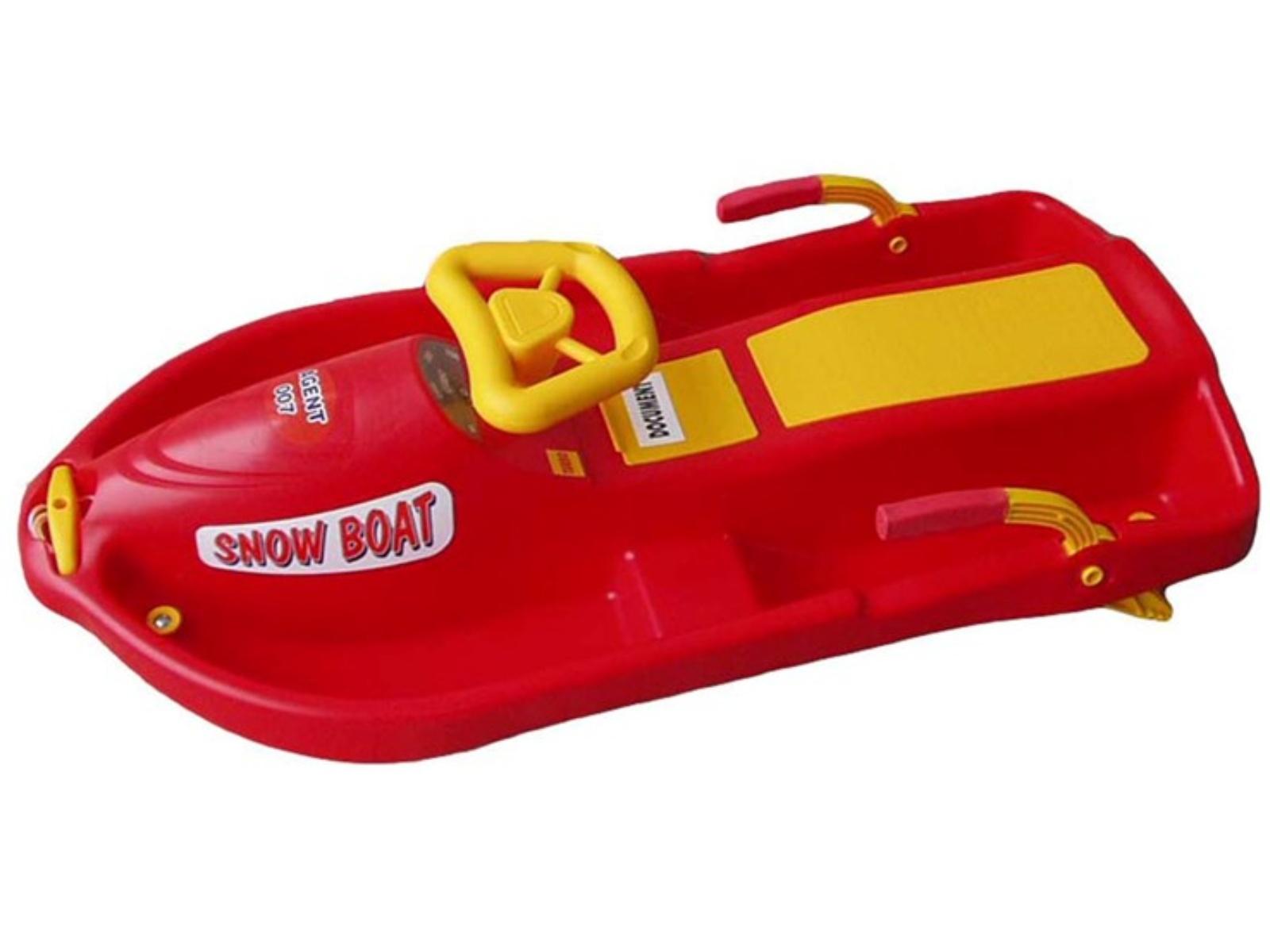 Plastkon Plastový bob Snow Boat Červená