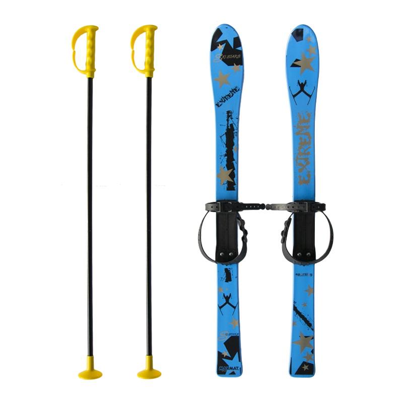 Baby Ski 90 cm - dětské plastové lyže - modré